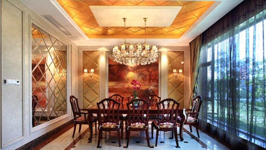 东顺设计最新欧式别墅餐厅装修效果