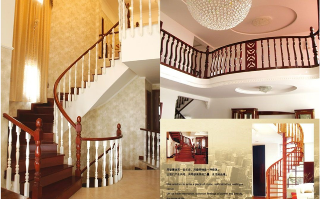 欧式实木楼梯 东顺设计